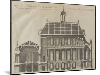 """Recueil des """"Plans, Profils et Elévations du Château de Versailles..."""" : planche 9 : coupe-Pierre Lepautre-Mounted Giclee Print"""