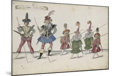 Album ; Ballet de la Douairière de Billebahaut et Ballet des fées des forêts de Saint Germain-Daniel Rabel-Mounted Giclee Print