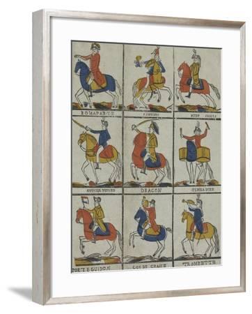 Bonaparte, panour, aide camp, officier hussard, dragon timbalier, porte guidon, cor de chasse,--Framed Giclee Print