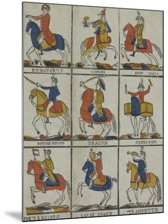 Bonaparte, panour, aide camp, officier hussard, dragon timbalier, porte guidon, cor de chasse,--Mounted Giclee Print