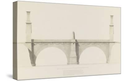 Projet d'un monument que l'on suppose placé aux frontières de la France et de l'Italie : vue de-Henri Labrouste-Stretched Canvas Print