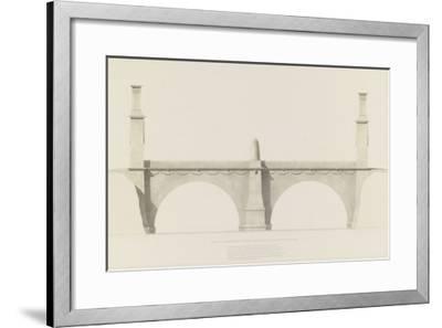 Projet d'un monument que l'on suppose placé aux frontières de la France et de l'Italie : vue de-Henri Labrouste-Framed Giclee Print