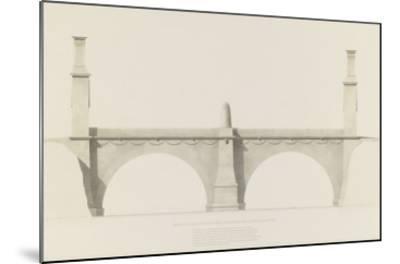 Projet d'un monument que l'on suppose placé aux frontières de la France et de l'Italie : vue de-Henri Labrouste-Mounted Giclee Print