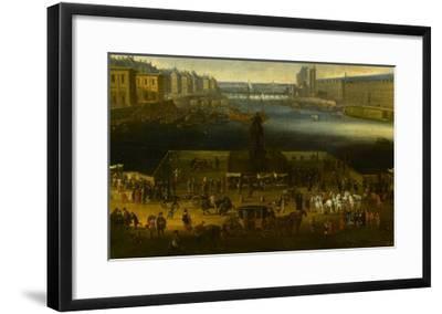 Vue perspective No.2 de la Seine de Paris sur le palais du Louvre, depuis le Pont Neuf vers 1666--Framed Giclee Print