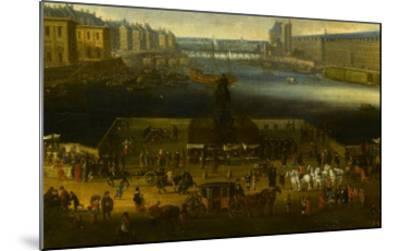Vue perspective No.2 de la Seine de Paris sur le palais du Louvre, depuis le Pont Neuf vers 1666--Mounted Giclee Print