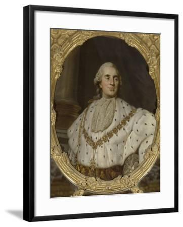 """Chambre de la Reine : dessus de glace (entre-fenêtres) : """"Louis XVI, roi de France et de Navarre-Joseph Siffred Duplessis-Framed Giclee Print"""