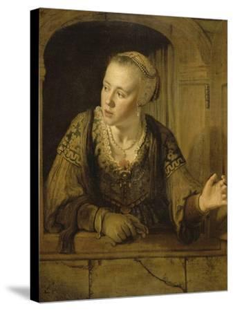 Jeune fille à la fenêtre-Jan Victors-Stretched Canvas Print