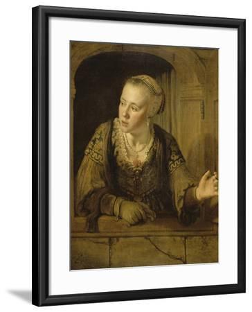 Jeune fille à la fenêtre-Jan Victors-Framed Giclee Print