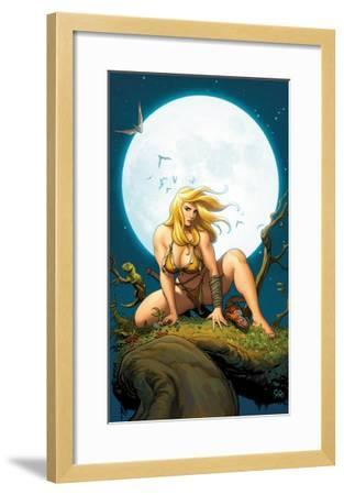 Shanna, The She-Devil No.5 Cover: Shanna The She-Devil Crouching--Framed Art Print