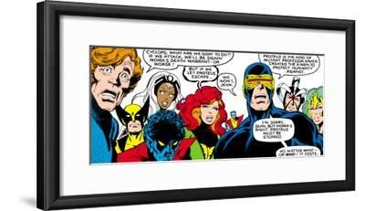 Marvel Comics Retro: X-Men Comic Panel--Framed Art Print
