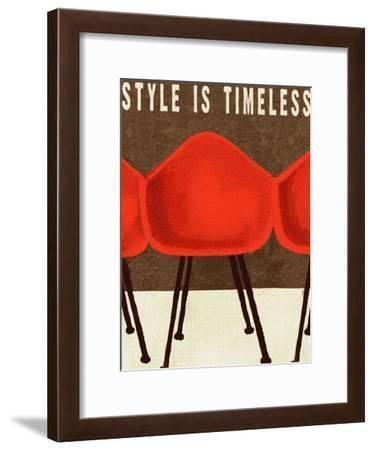 Style is Timeless Midcentury Chairs-Lisa Weedn-Framed Giclee Print
