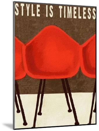 Style is Timeless Midcentury Chairs-Lisa Weedn-Mounted Giclee Print