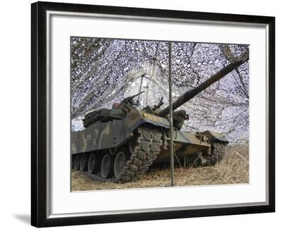 Mock Aggressors from Republic of Korea Marine Corps Prepare their Tank--Framed Photographic Print