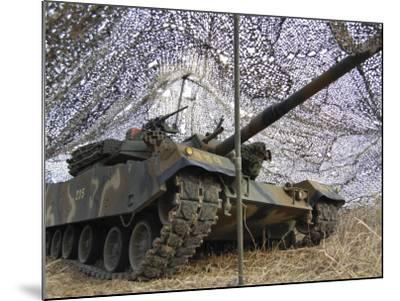Mock Aggressors from Republic of Korea Marine Corps Prepare their Tank--Mounted Photographic Print