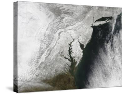 A Severe Winter Storm Along the United States East Coast--Stretched Canvas Print