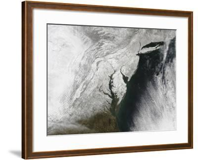 A Severe Winter Storm Along the United States East Coast--Framed Photographic Print