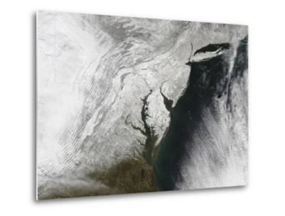 A Severe Winter Storm Along the United States East Coast--Metal Print