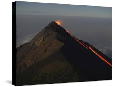 Fuego Lava Flow, Antigua, Guatemala--Stretched Canvas Print