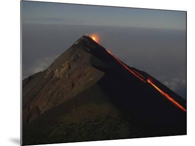 Fuego Lava Flow, Antigua, Guatemala--Mounted Photographic Print