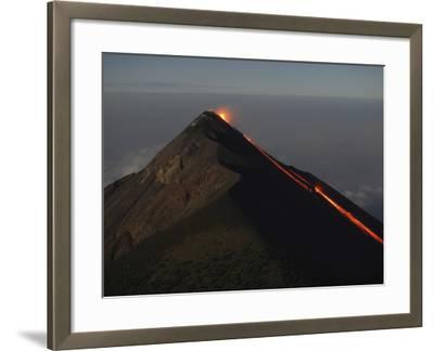 Fuego Lava Flow, Antigua, Guatemala--Framed Photographic Print