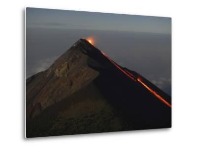 Fuego Lava Flow, Antigua, Guatemala--Metal Print