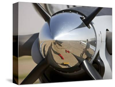 Close-Up View of the Propeller of an Iraqi Air Force T-6 Texan Trainer Aircraft--Stretched Canvas Print