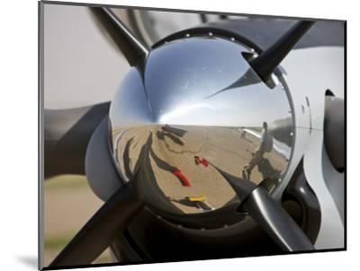 Close-Up View of the Propeller of an Iraqi Air Force T-6 Texan Trainer Aircraft--Mounted Photographic Print