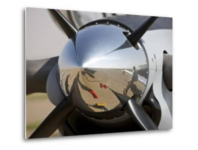 Close-Up View of the Propeller of an Iraqi Air Force T-6 Texan Trainer Aircraft--Metal Print
