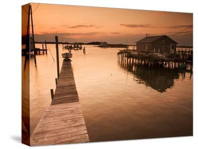 Docks and Boathouses in Tylerton on Smith Island, Chesapeake Bay-Aaron Huey-Stretched Canvas Print
