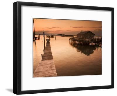 Docks and Boathouses in Tylerton on Smith Island, Chesapeake Bay-Aaron Huey-Framed Photographic Print