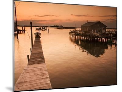 Docks and Boathouses in Tylerton on Smith Island, Chesapeake Bay-Aaron Huey-Mounted Photographic Print