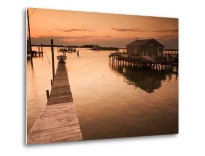 Docks and Boathouses in Tylerton on Smith Island, Chesapeake Bay-Aaron Huey-Metal Print
