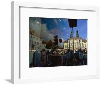 A Window Reflection of Luneburg's Town Hall-Sisse Brimberg-Framed Photographic Print