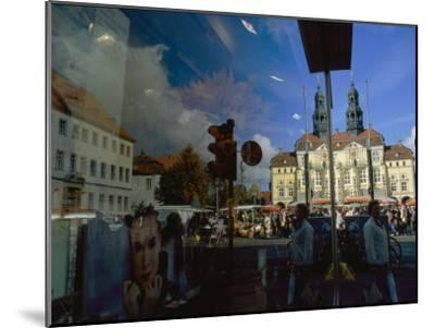A Window Reflection of Luneburg's Town Hall-Sisse Brimberg-Mounted Photographic Print