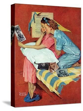 """""""Movie Star"""", February 19,1938-Norman Rockwell-Stretched Canvas Print"""