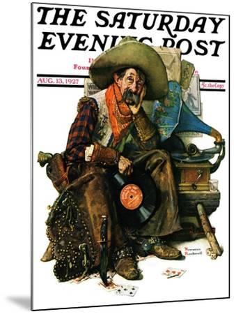 """""""Dreams of Long Ago"""" Saturday Evening Post Cover, August 13,1927-Norman Rockwell-Mounted Giclee Print"""