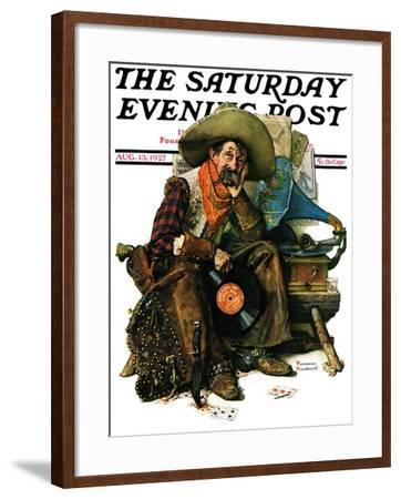 """""""Dreams of Long Ago"""" Saturday Evening Post Cover, August 13,1927-Norman Rockwell-Framed Giclee Print"""