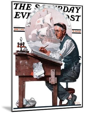"""""""Escape to Adventure"""" Saturday Evening Post Cover, June 7,1924-Norman Rockwell-Mounted Giclee Print"""