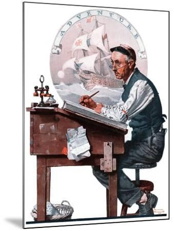 """""""Escape to Adventure"""", June 7,1924-Norman Rockwell-Mounted Premium Giclee Print"""