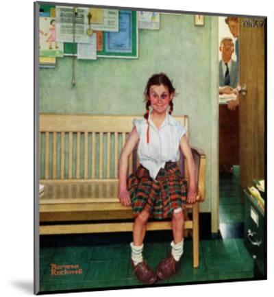 """Shiner"" or ""Outside the Principal's Office"" Saturday Evening Post Cover, May 23,1953-Norman Rockwell-Mounted Premium Giclee Print"