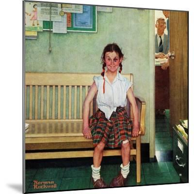 """""""Shiner"""" or """"Outside the Principal's Office"""" Saturday Evening Post Cover, May 23,1953-Norman Rockwell-Mounted Giclee Print"""