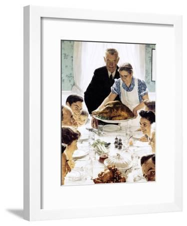 """""""Freedom From Want"""", March 6,1943-Norman Rockwell-Framed Giclee Print"""
