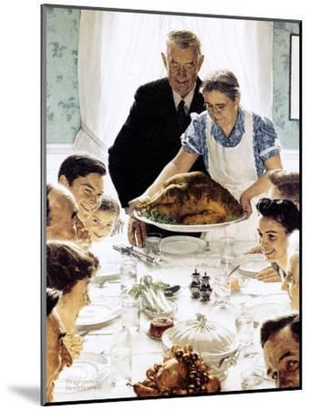 """""""Freedom From Want"""", March 6,1943-Norman Rockwell-Mounted Giclee Print"""
