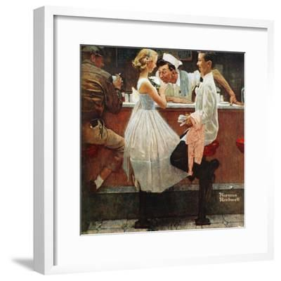 """""""After the Prom"""", May 25,1957-Norman Rockwell-Framed Premium Giclee Print"""
