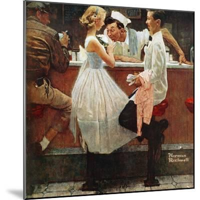 """""""After the Prom"""", May 25,1957-Norman Rockwell-Mounted Premium Giclee Print"""