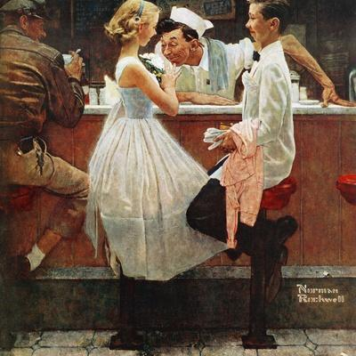 """After the Prom"", May 25,1957-Norman Rockwell-Giclee Print"