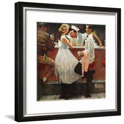 """After the Prom"", May 25,1957-Norman Rockwell-Framed Giclee Print"