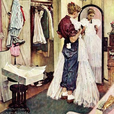 """""""Prom Dress"""", March 19,1949-Norman Rockwell-Giclee Print"""