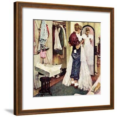 """Prom Dress"", March 19,1949-Norman Rockwell-Framed Giclee Print"