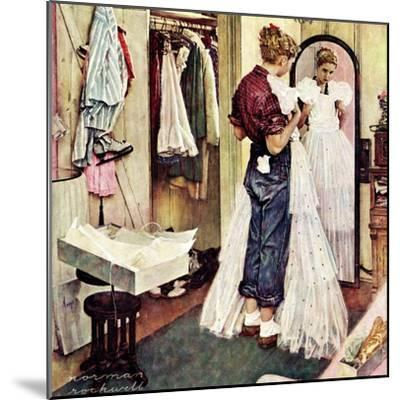 """Prom Dress"", March 19,1949-Norman Rockwell-Mounted Giclee Print"